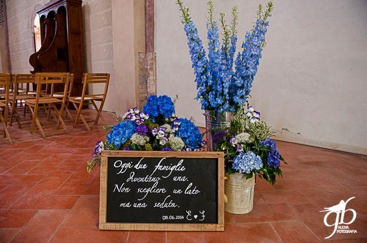wedding board in the church Con le ballerine verdi{ Real Wedding} Fausto e Elena by Con le ballerine verdi