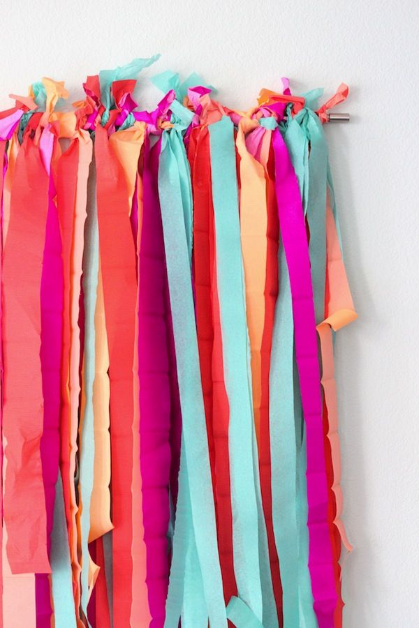 How to: Layered Party Streamer Background DIY | Tiny Prints Blog