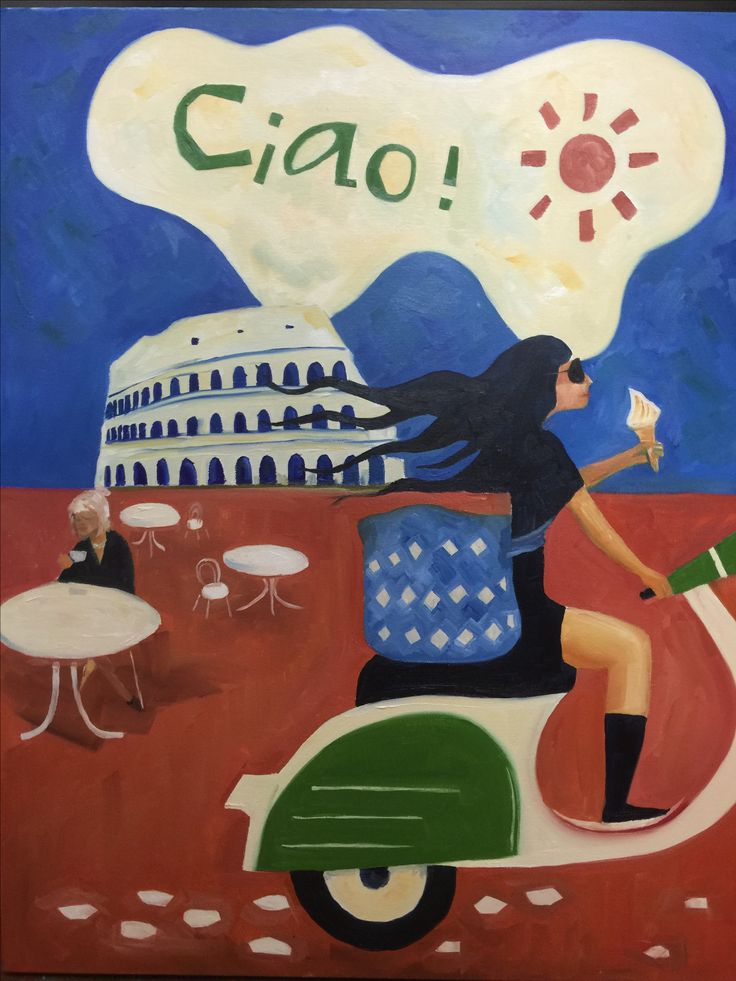 Roma Bella - oil on canvas painter Rick Brun
