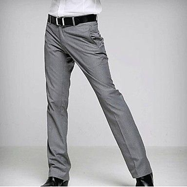 Mens Formal Wedding Pants Slim Korean Bridegroom Groomsmen Men's Casual Trousers – EUR € 30.08