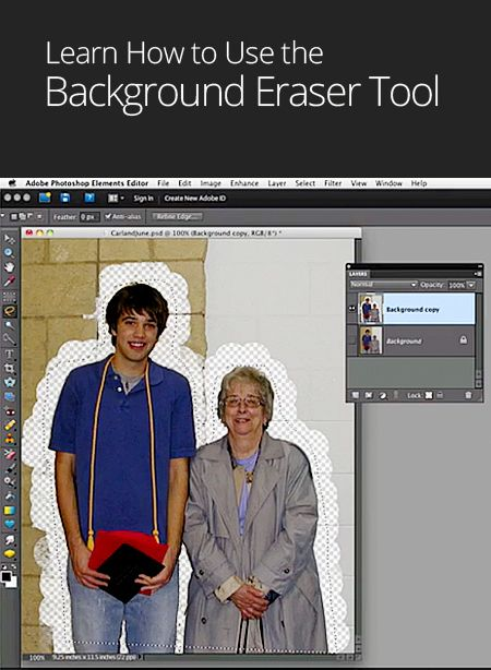 How to Use the Background Eraser Tool