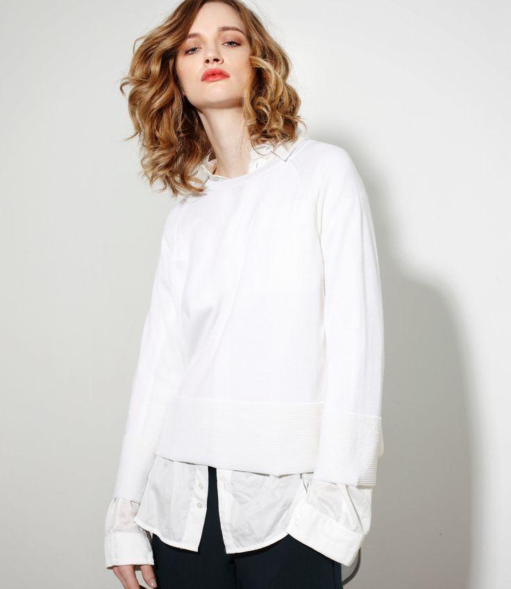 Grace Sweater in Cream - 100% Merinowww.nineteen46.co.nz