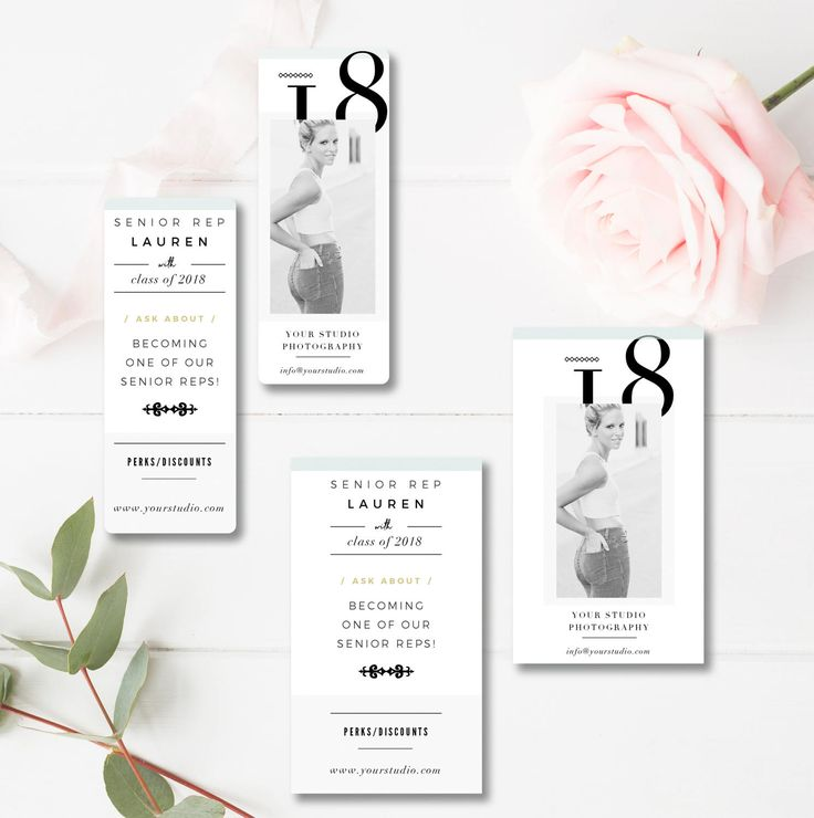 Senior Rep Card Templates - Senior Marketing - Senior Photographer Templates - Referral Card - Millers and WHCC - INSTANT DOWNLOAD by ByStephanieDesign on Etsy