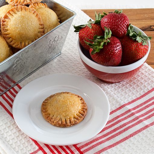 Two-Bite Strawberry Hand Pies with recipe link