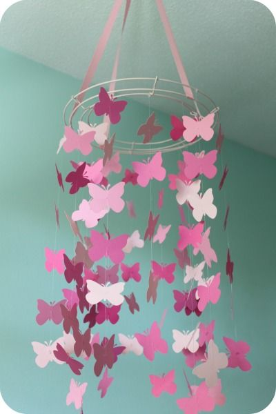 25 best ideas about butterfly mobile on pinterest paper for How to decorate a paper butterfly