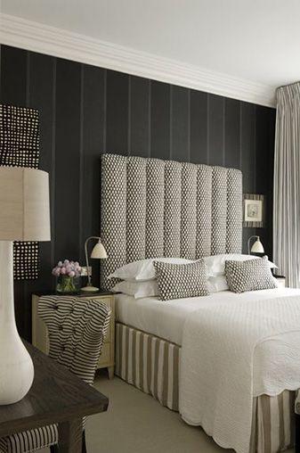 kamar tidur minimalis hitam retro