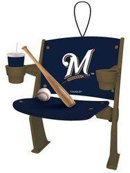 Milwaukee Brewers Stadium Chair Ornament