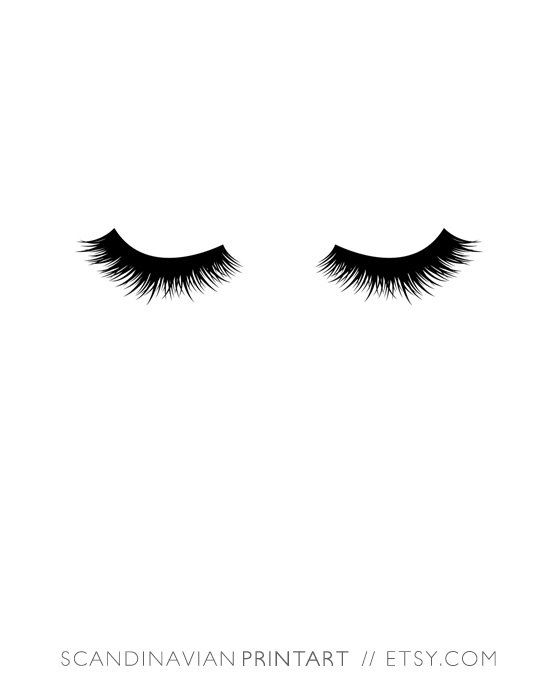 Downloadable wall art // Lashes - black and white minimalist art  Welcome to Scandinavian Print Art!  Print out the art on your printer at