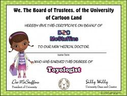 {free} printable Certificate, Doc McStuffins, Awards