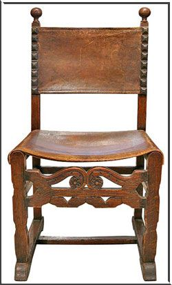 chair in Spanish furniture style