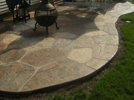 Extra Tip: Mix Two Like Shades Of Patio Paint To Create A Stone. Painted  Concrete PatiosStamped ...