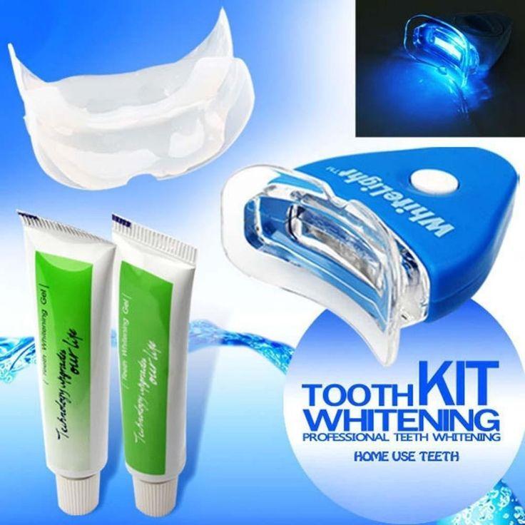Bright Smile New Dental White Teeth Whitening with LED Light For men women care Oral Hygiene Tooth health Security Whitener Kit