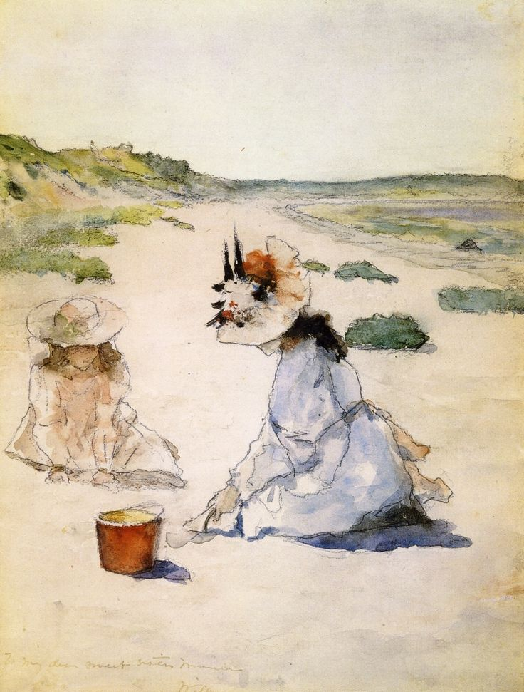 """On the Beach, Shinnecock"" by William Merritt Chase, 1895."