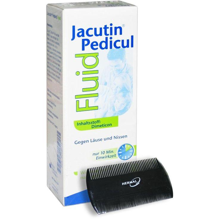 JACUTIN Pedicul Fluid gegen Läuse und Nissen mit Nissenkamm: Das Präparat Jacutin Pedicul Fluid ist insektizidfrei und enthält 100%…