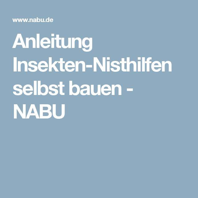 Anleitung Insekten-Nisthilfen selbst bauen - NABU