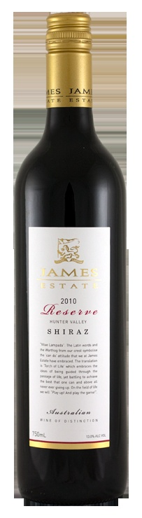 James Estate 2010 Reserve Shiraz   產地:澳洲Upper Hunter Valley   販售處:James Estate   價格:23 AUD