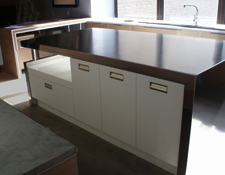 Countertops on pinterest the minimalist the waterfall and islands