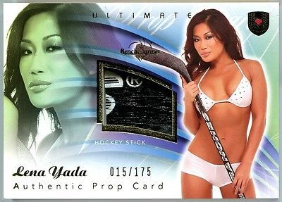 Lena yada 2009 #benchwarmer ultimate prop card hockey #stick #015/175 f216,  View more on the LINK: 	http://www.zeppy.io/product/gb/2/111143926692/