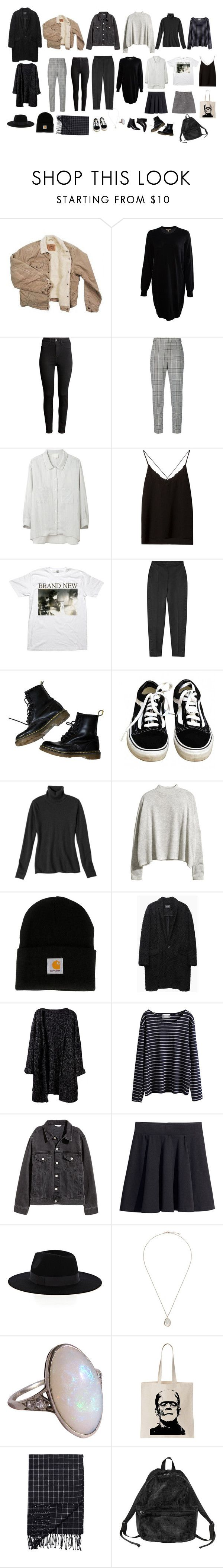"""Autumn Capsule Wardrobe"" by seven-moths ❤ liked on Polyvore featuring Levi's, Burberry, H&M, Alexander Wang, Band of Outsiders, Massimo Dutti, Dr. Martens, Vans, Carhartt and Isabel Marant"