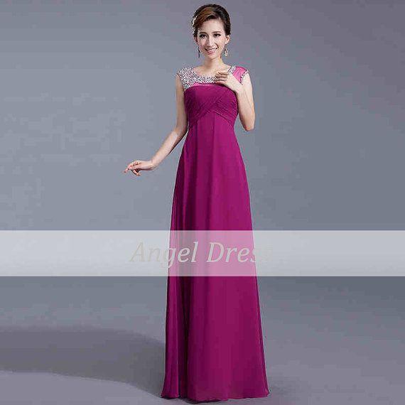 Long Prom Dress/Purple Prom Dresses/Elegant by angeldress2014, $119.00