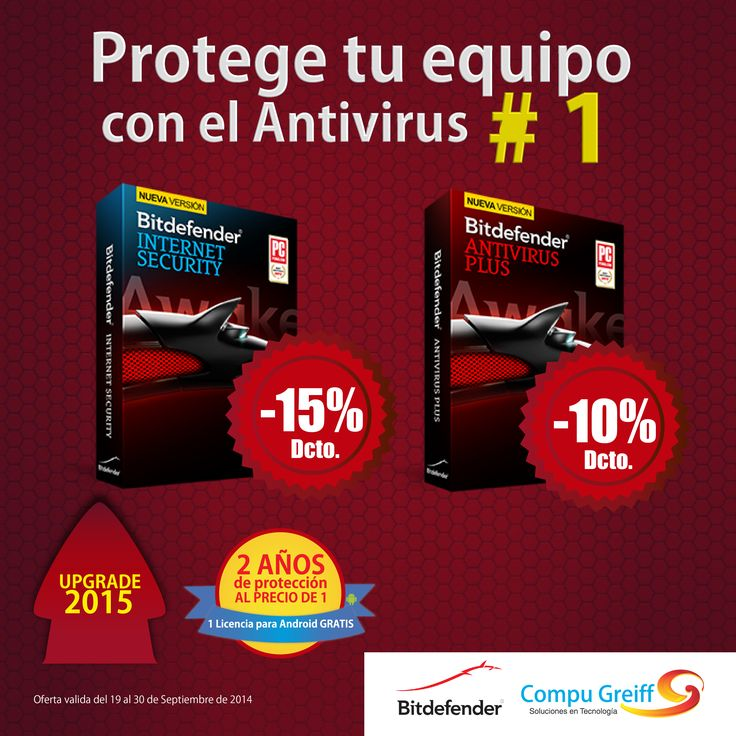 Protege tu equipo con el antivirus #1 y obtén hasta el 15% de Dcto. en tu compra