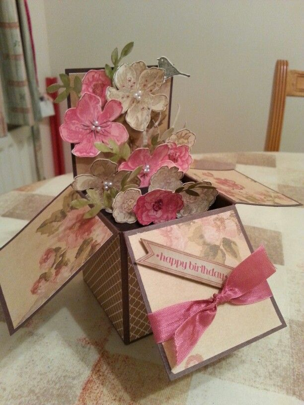 Card in a box made by Susan Greer.