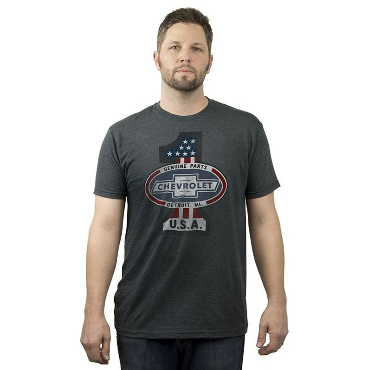 Big & Tall Fifth Sun Chevrolet USA Tee, Grey Other