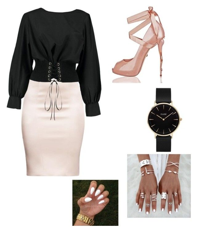 """""""Untitled #10"""" by izzybizzyboo on Polyvore featuring Boohoo and CLUSE"""