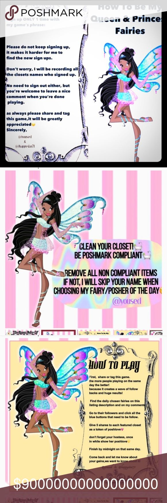 👑Queen or King👑 💥Like  💥Follow 💥Share Congratulations 🎊  It's your SPECIAL Week 💖    Jan 30- Feb 6 , 2018 😍Team's Fairy GodMother  Share Game 5x Give 3 Shares to 👑 @schx4 😍Share 5 items for each  My Queen Fairy   👑 @divineduchess  My King Fairy  👑 @kevinecommers__  My Princess Fairy   👑 @eygpt4   1 Share 5 items for each  2 Tap their followers  3 For miraculous results play games of @happystar71 @amagnoliandc @camps_boutique   @dearcarmen @girltalk123 Queen or King Fairy Other