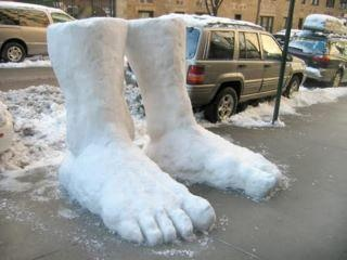 That's not 2 feet of snow...  That's two.  Feet.  Of snow.