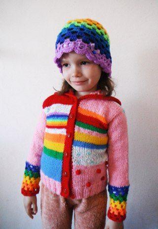 вязание детям радуга комплект по мотивам Vendula Maderska