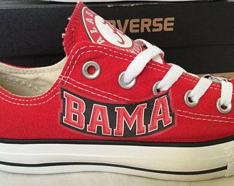 University of Alabama Crimson Tide Converse Chuck Taylor Sneakers NCAA