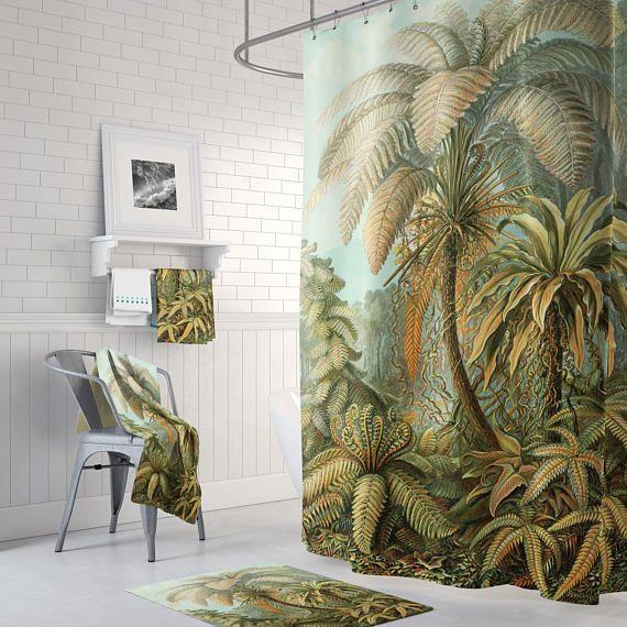 Shower Curtain Shower Curtain Vintage Jungle Shower Curtain
