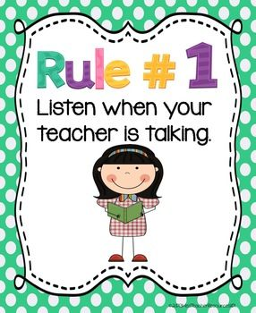 These Whole Brain Teaching Rules were very effective in my class last year and I can not wait to use them again!  This set of rules does not include the traditional rules.  These rules have been adapted with granted permission from The Kinder Polka Dot.
