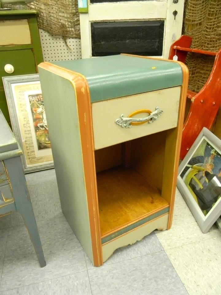 Art Deco End Table By Emilyu0027s Up Cycled Furniture Medford, Oregon Http:/