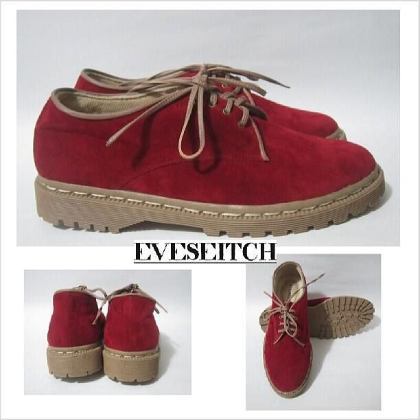Hafshoes: docmart suede red 3hole