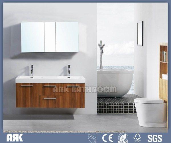Photo Gallery For Website Waterproof Double Sink Bathroom vanity used bathroom vanity cabinets Cheap cost RMF C