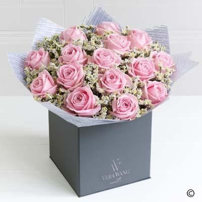 Showcasing the very best premium roses, richly coloured in a wonderfully feminine, lustrous pink, this Vera Wang bouquet is truly breathtaking; the epitome of elegance.