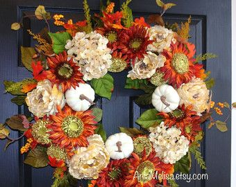 fall wreath fall wreaths autumn wreaths front door by aniamelisa
