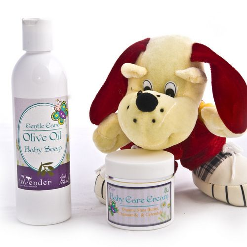 Natural Baby Care Set : The Baby Care Set includes our Baby Soap as well as our wonderful Baby Care Cream, ideally suited for healing diaper rush and any skin problems. This set has cured many cases of Atopic Dermatitis in babies, kids and adults. For further information.. The set contains: Baby Care Cream 1.76fl.oz (50ml) Baby Soap 8.8fl.oz (250ml)