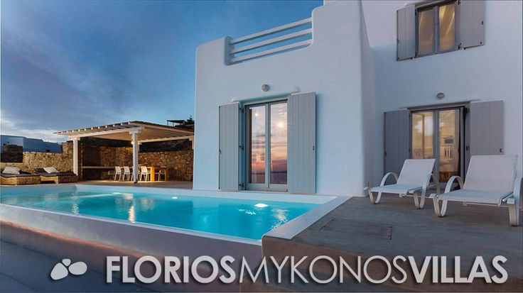 The external settings, reflect the beauty of the internal aesthetics and everyone can enjoy the unique sunset. This new built, elegant villa is the ideal place for your vacation.  FMV1217 Villa for Rent on Mykonos island Greece. http://florios-mykonos-villas.com/property/fmv1217-2/