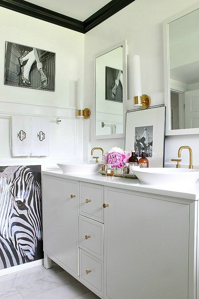 Best Black White Bathrooms Images On Pinterest Bath - Black and white bathrooms ideas