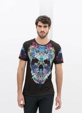 Hot Sales Custom Short Sleeve skull print Wholesale T Shirts   best seller follow this link http://shopingayo.space