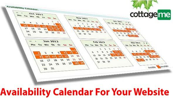 Cottage Rentals Availability Calendar for your website in 5 minutes.