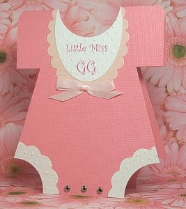 Little Miss GG - Welcome baby card.