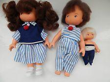 Vintage delavennat 87 poupée famille très rare et difficile à trouver les valeurs familiales poupées