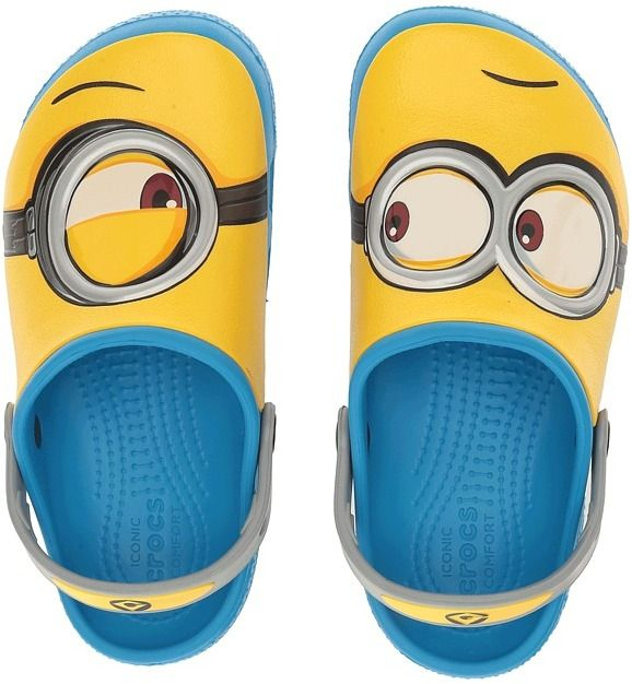 Crocs Kids - CrocsFunLab Minions Clog Kids Shoes Be Gru' s best companion with this awesome Crocs Kids clog! Faux rubber upper with Minion design. Afflink.
