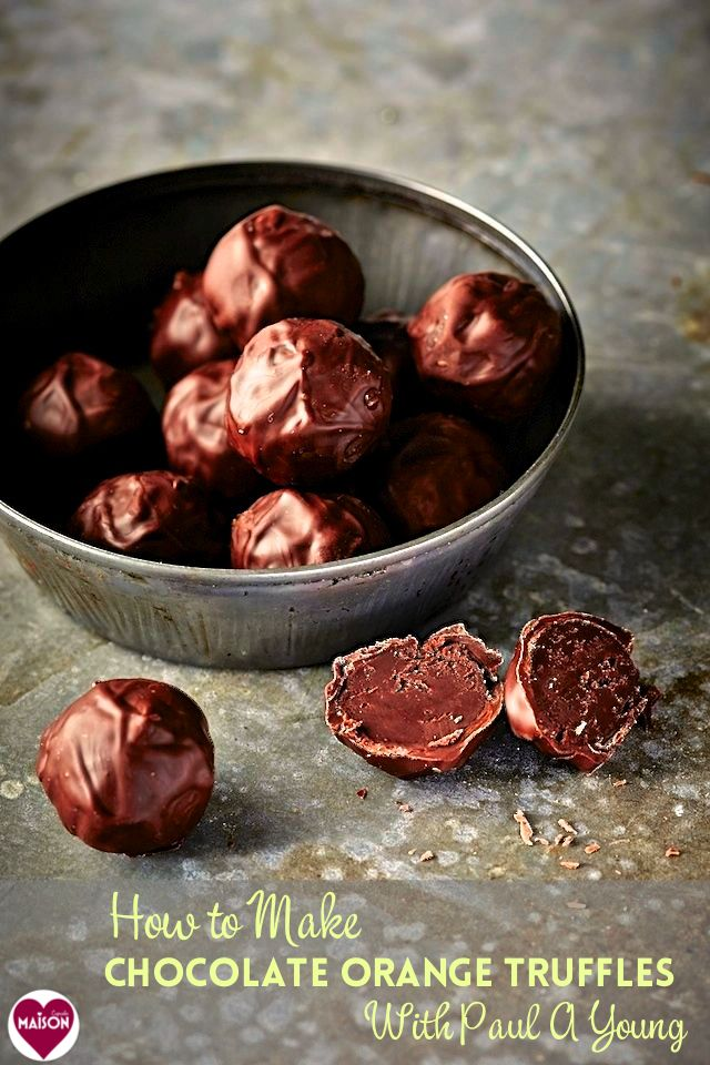 How to make chocolate orange truffles Paul A Young recipe from his book How to Make Chocolates (recently published by Lakeland). Win copies too!