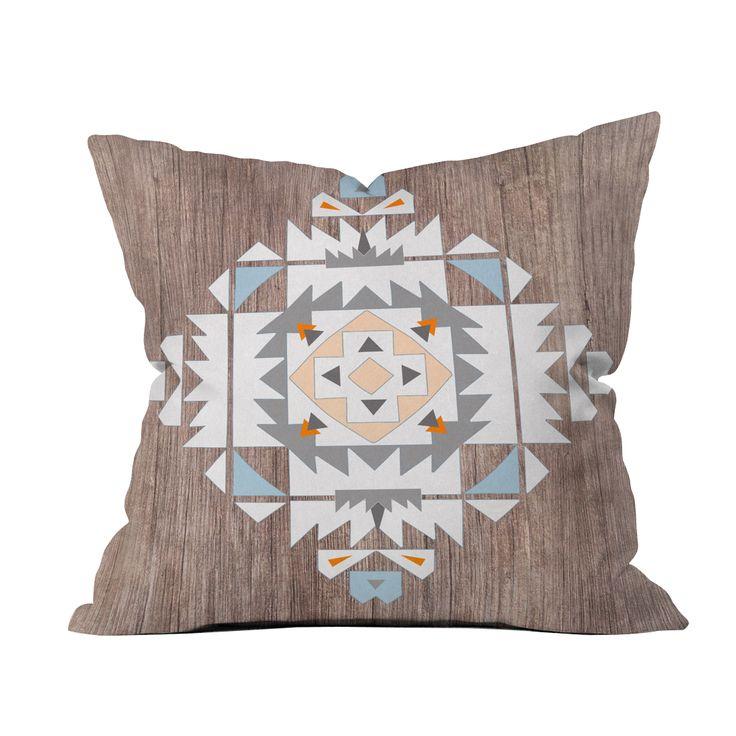 Southwest Stamp Throw Pillow Cover | dotandbo.com