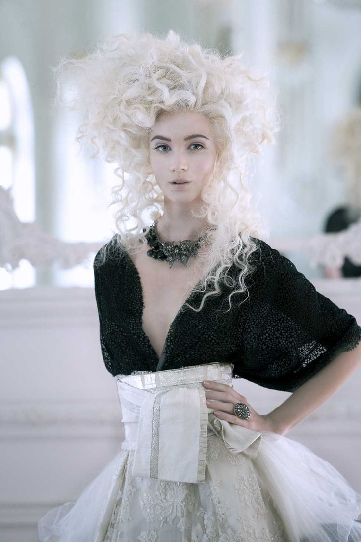 Marie Antoinette Hair by Vivienne McKinder. And people think MY hair is big. Love this!